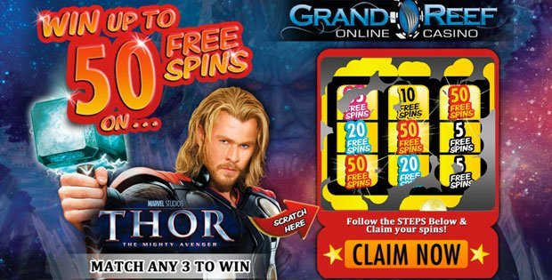 grand reef casino 50 free spins