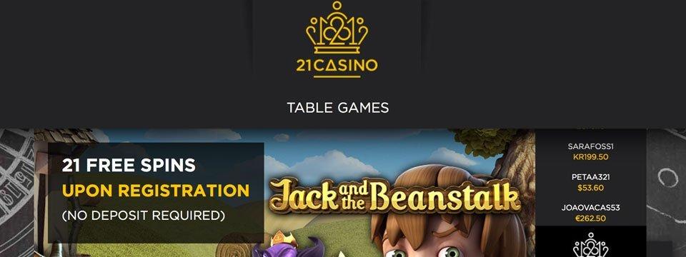 twenty one casino no deposit