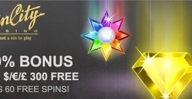 sin city casino free spins