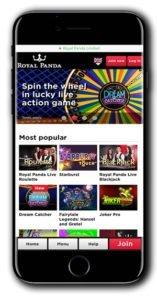 Royal Panda Casino 100% Match Bonus Spins