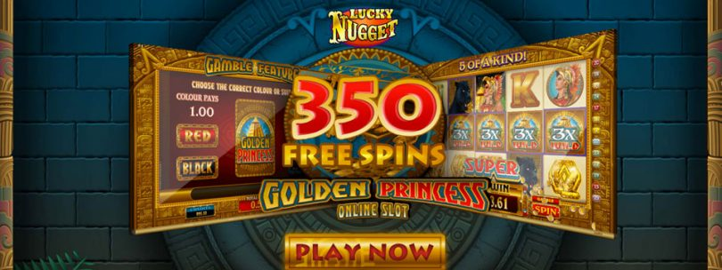 lucky nugget 350 spins
