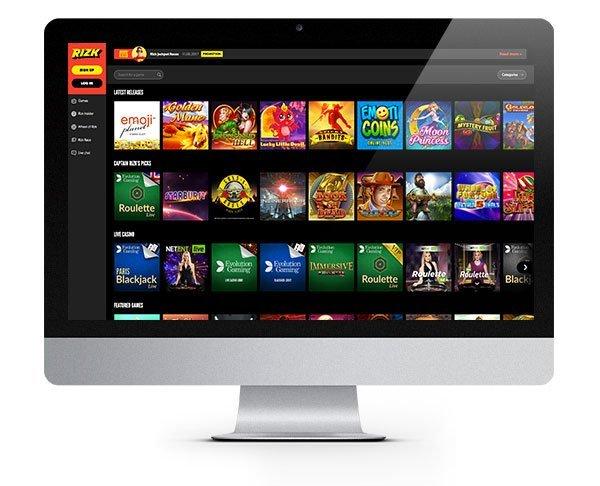 Desktop Rizk Casino
