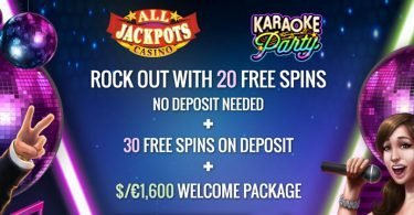 all jackpots free spins no deposit