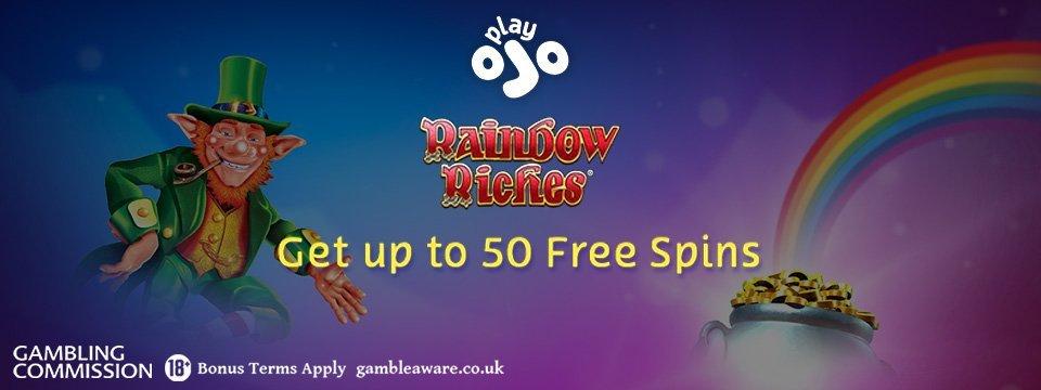 PlayOJO Casino: 50 Free Spins WAGER FREE!