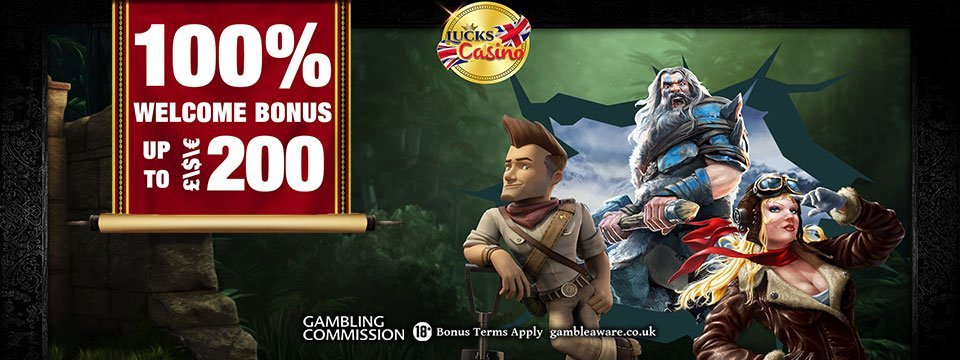 Lucks Casino: 100% First Deposit Match Bonus!