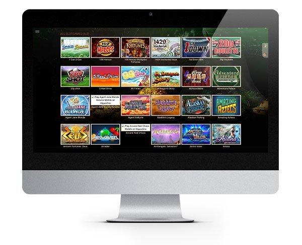 Hippozino Casino desktop