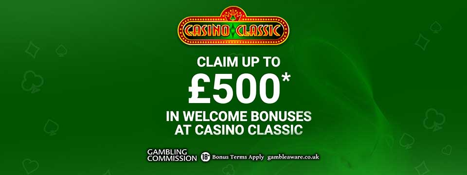 Casino Classic: $500 Microgaming Welcome Bonus
