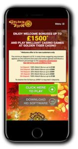 Golden Tiger Casino Casino Bonus
