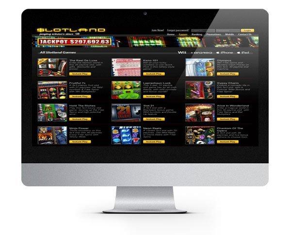 Slotland Casino desktop
