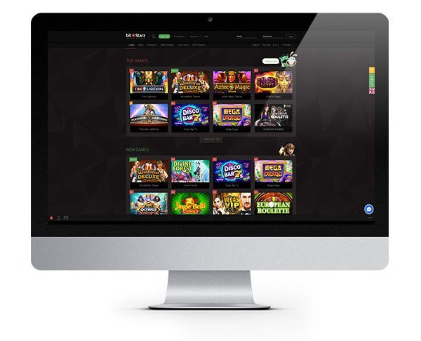 BitStarz Casino screenshot homepage