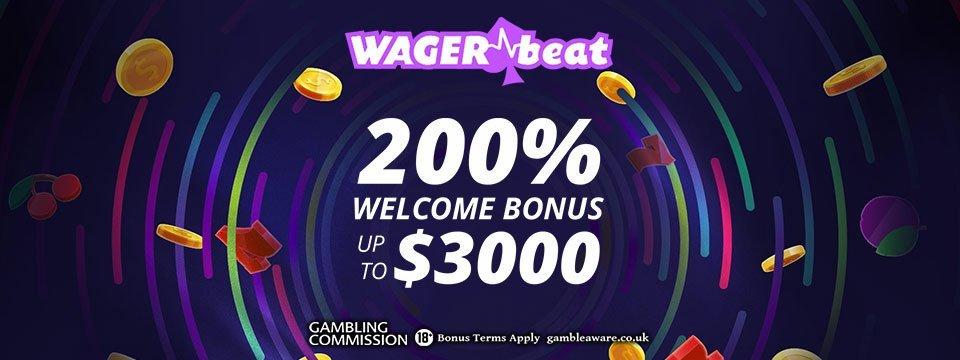 WagerBeat Casino: 200% Match Bonus up to a MASSIVE $3000!