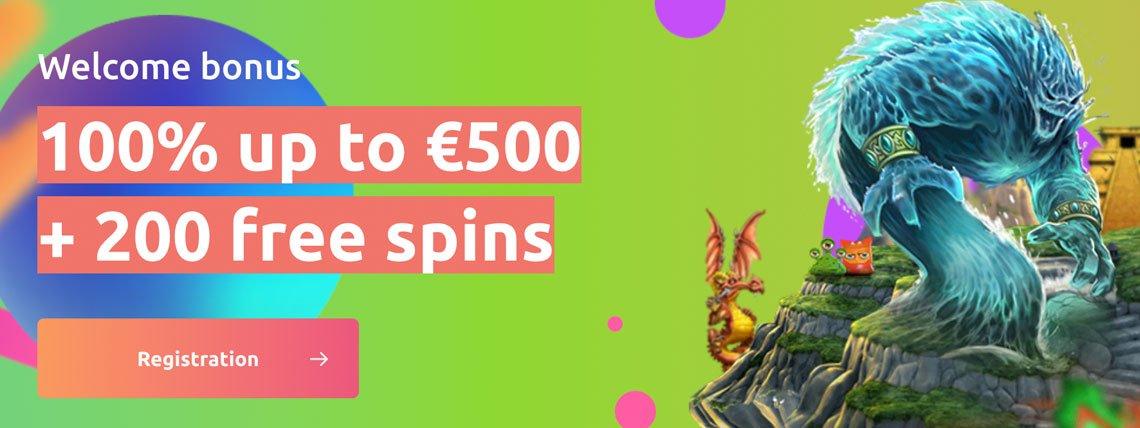 Cadoola Casino: Get 100% to €500 + 200 Free Spins!