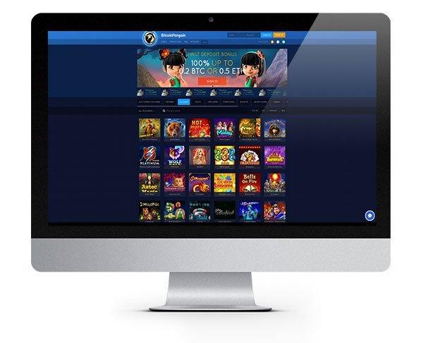 Bitcoin Penguin Casino 100% Match New Player Bonus