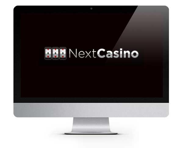 NextCasino logo on screen