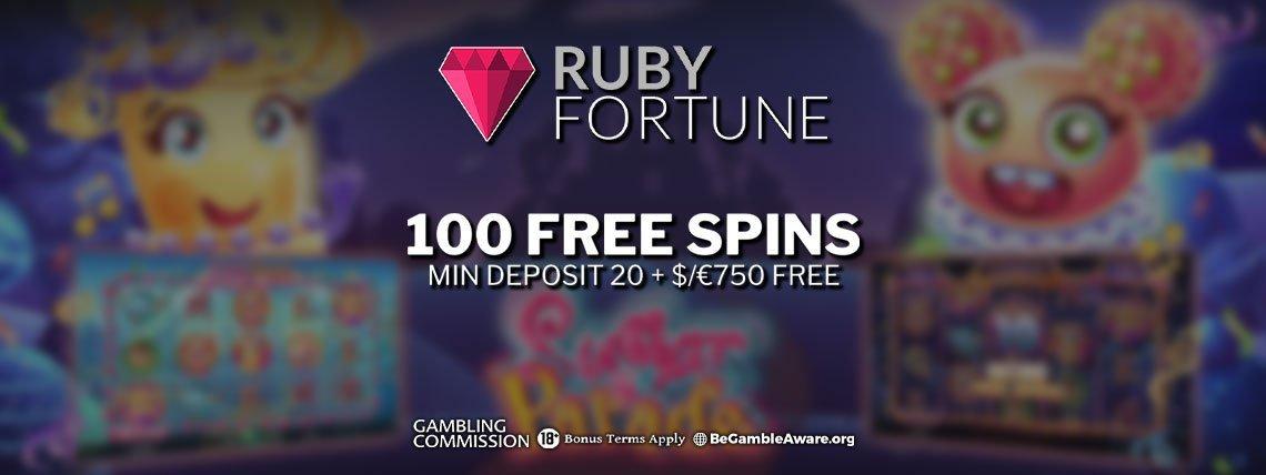 Ruby Fortune Casino: New Player 100% Match Bonus!