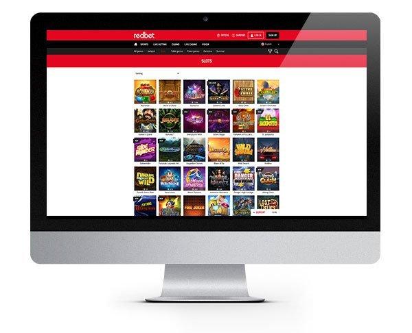 RedBet Casino desktop