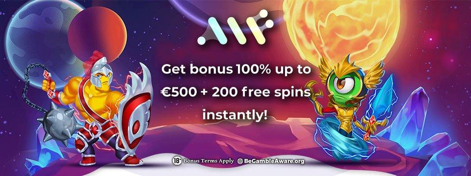 Alf Casino: €/$500 Casino Bonus + 200 Free Spins!