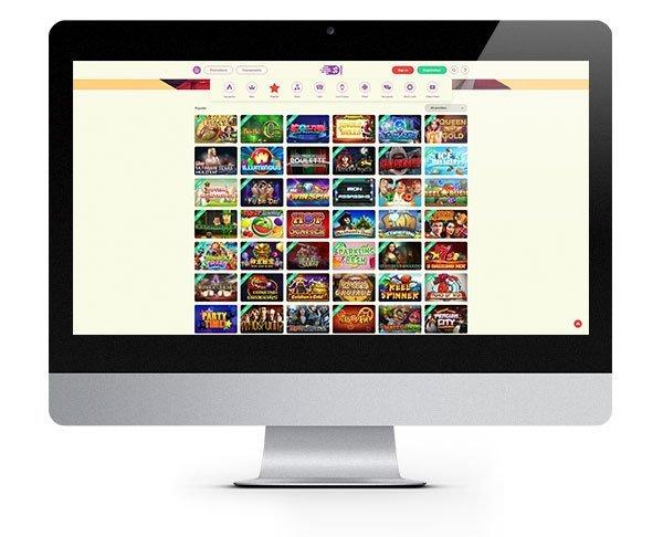 YoYo Casino desktop lobby