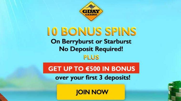 gday casino no deposit
