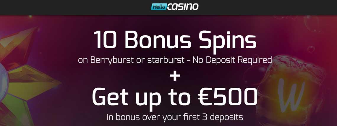 hello casino 10 free