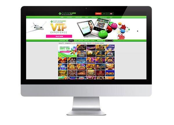 Casino Luck desktop lobby