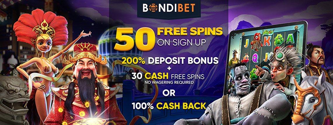 bondibet 50 free spins no deposit