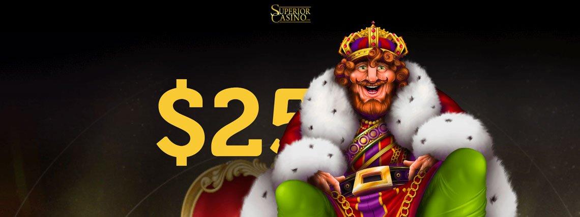 superior casino 25 no deposit
