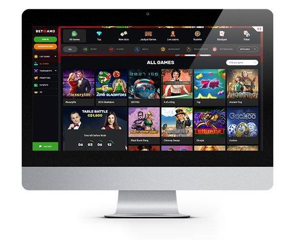 Betamo Casino desktop