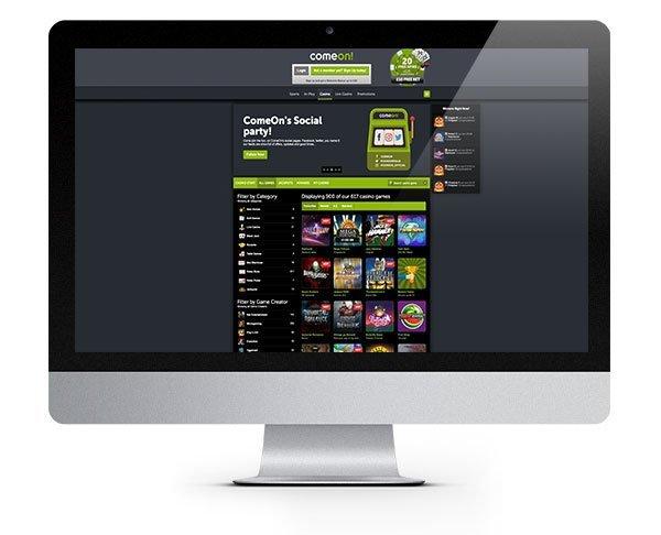 Comeon Casino desktop
