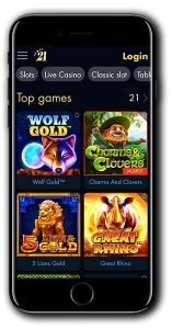 21Dukes Casino mobile lobby