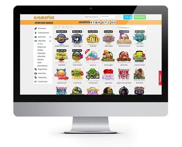 CyberSpins desktop casino