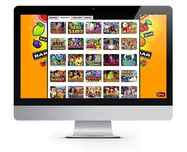 Рабочий стол игрового казино Slot Madness Casino