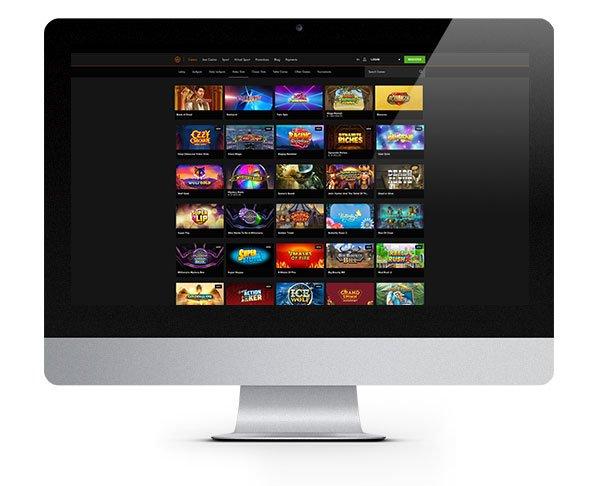 Casino Winner desktop lobby
