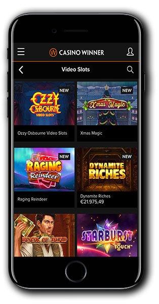 Casino Winner mobile lobby