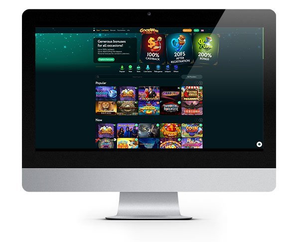 GoodWin Casino Desktop Homepage