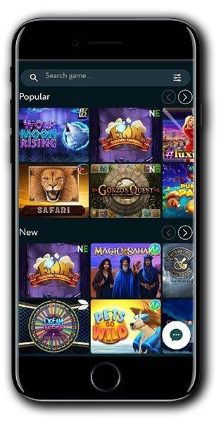 GoodWin Casino Mobile Homepage