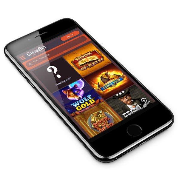 GunsBet Casino mobile lobby