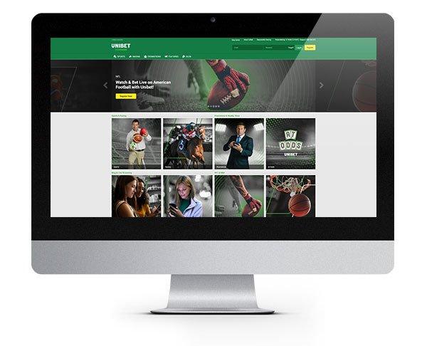 Unibet Sports Betting Homepage