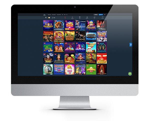 iLUCKI Casino desktop lobby