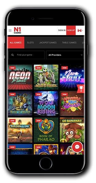 Permainan Seluler N1 Casino
