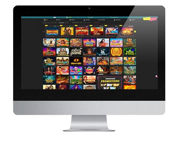 Booi Casino desktop lobby