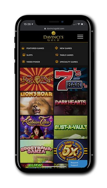 Da Vinci's Gold Casino mobile
