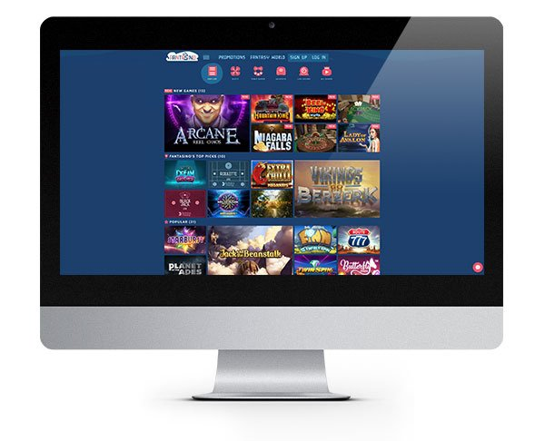 Fantasino Casino desktop play