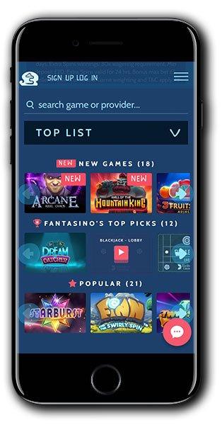 Fantasino Casino mobile gaming