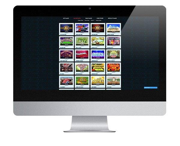 Paradise 8 Casino desktop lobby
