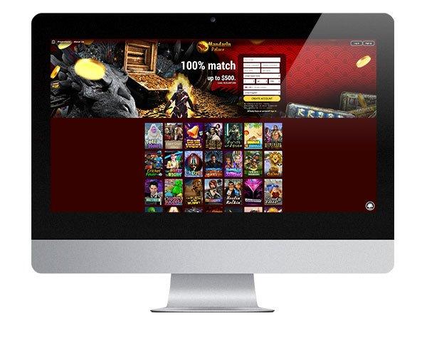 Mandarin Palace Casino Desktop Lobby