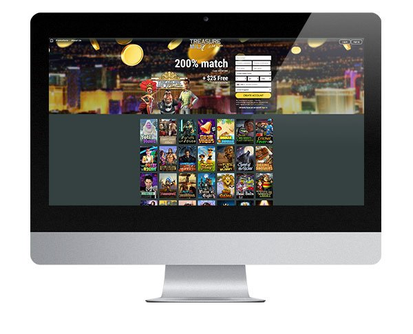 Treasure Mile Casino landing page