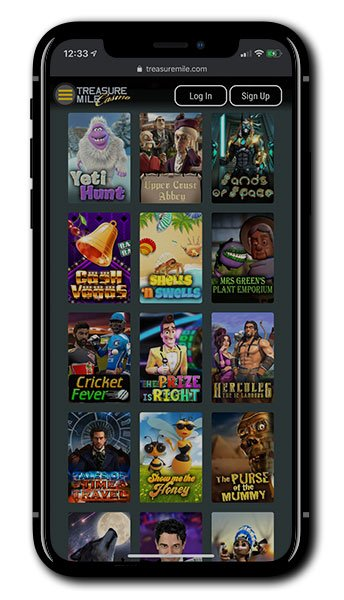 Treasure Mile Casino Mobile Gaming