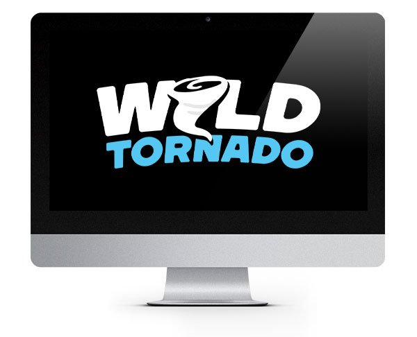 Wild Tornado Casino Logo on screen