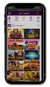 All Right Casino mobile screenshot